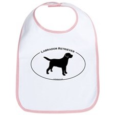 Labrador Oval Text Bib
