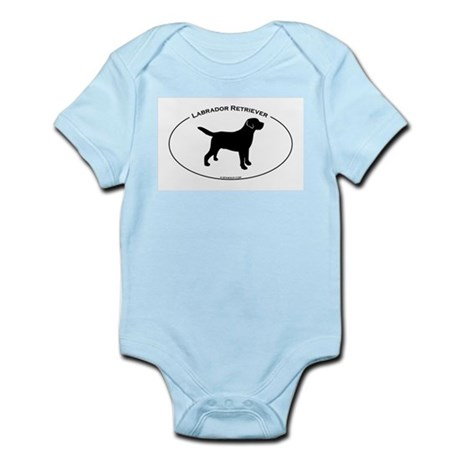 Labrador Oval Text Infant Bodysuit
