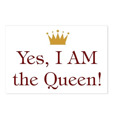 Yes I AM the Queen Postcards (Package of 8)