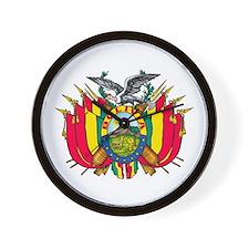 Bolivia escudo Wall Clock