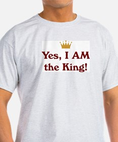 Yes, I AM the King Ash Grey T-Shirt