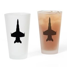 Jet - Air Force - Military Drinking Glass