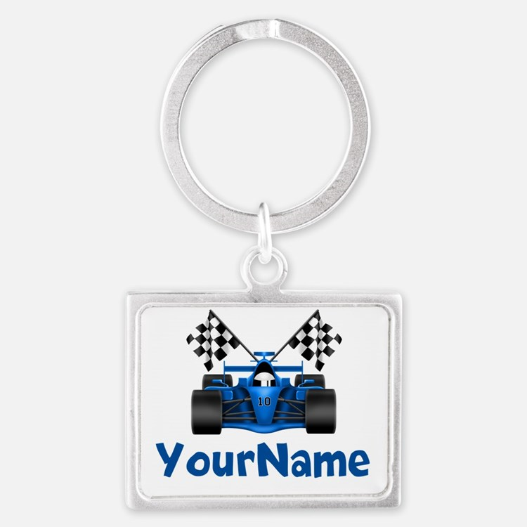 Race Car Personalized Keychains