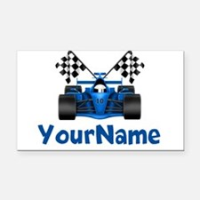 Race Car Personalized Rectangle Car Magnet