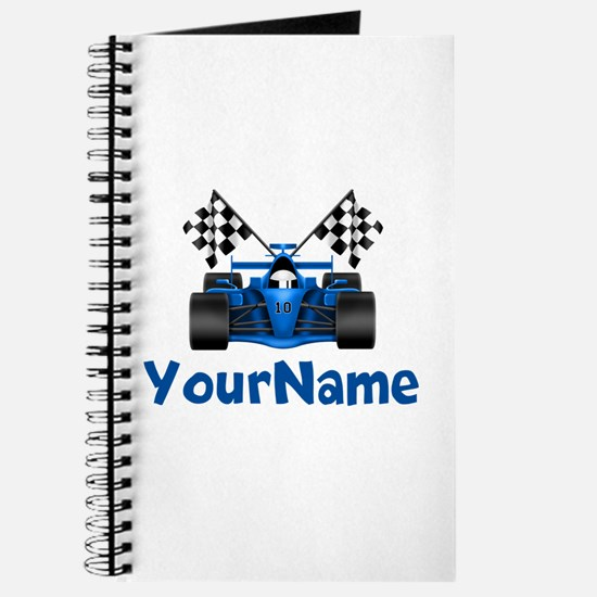Race Car Personalized Journal