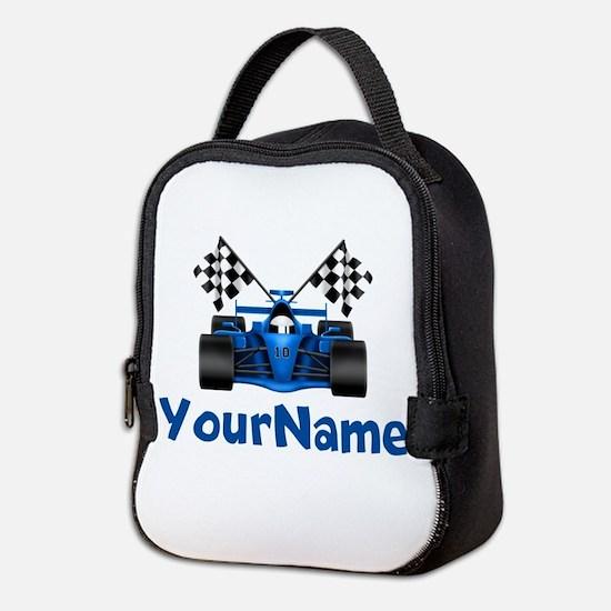 Race Car Personalized Neoprene Lunch Bag