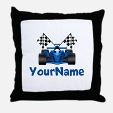 Race Car Personalized Throw Pillow