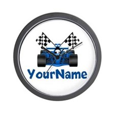 Race Car Personalized Wall Clock