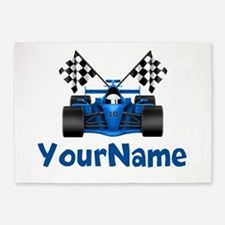 Race Car Personalized 5'x7'Area Rug