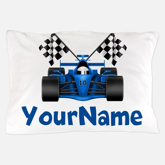 Race Car Personalized Pillow Case