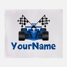 Race Car Personalized Throw Blanket