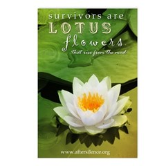 Lotus Flowers Postcards (Package of 8)