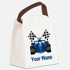 Race Car Personalized Canvas Lunch Bag
