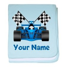 Race Car Personalized baby blanket