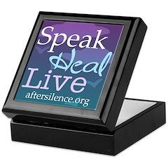 Speak, Heal, Live Framed Tile