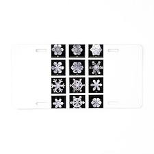 Snow Aluminum License Plate