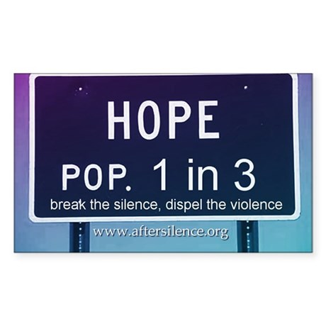 Hope Rectangle Sticker