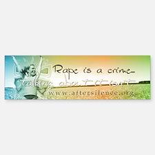 Rape is a Crime Bumper Bumper Bumper Sticker