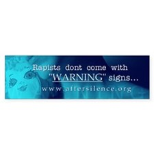 Warning Signs Bumper Bumper Sticker