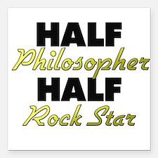 Half Philosopher Half Rock Star Square Car Magnet