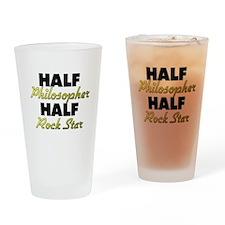 Half Philosopher Half Rock Star Drinking Glass