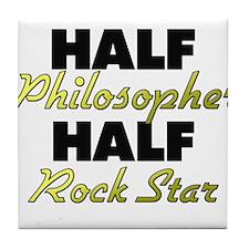 Half Philosopher Half Rock Star Tile Coaster