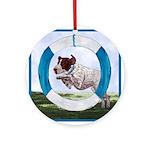 Agility German Shorthair Pointer Ornament (Round)
