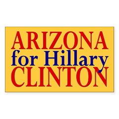 Arizona for Hillary Clinton Rectangle Decal