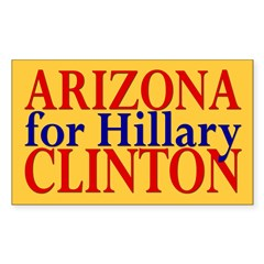 Arizona for Hillary Clinton Rectangle Decal