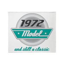 1972 Birthday Vintage Chrome Throw Blanket