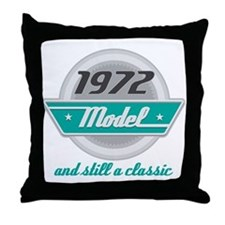 1972 Birthday Vintage Chrome Throw Pillow