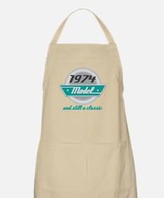 1974 Birthday Vintage Chrome Apron