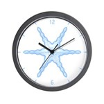 Flurry Snowflake III Wall Clock