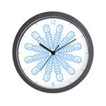 Flurry Snowflake V Wall Clock