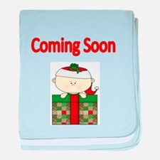 Coming soon with xmas baby baby blanket