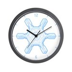 Flurry Snowflake VII Wall Clock