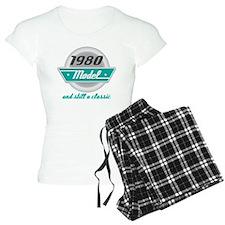 1980 Birthday Vintage Chrome Pajamas