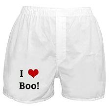 I Love Boo! Boxer Shorts