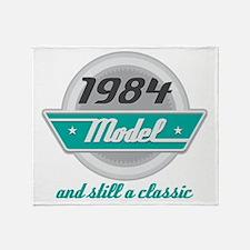 1984 Birthday Vintage Chrome Throw Blanket