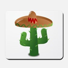 Cactus Wearing a Sombrero Mousepad