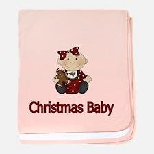 Christmas Baby Girl baby blanket