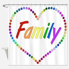 Rainbow Family Shower Curtain