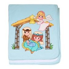 Childrens Nativity baby blanket