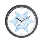 Flurry Snowflake X Wall Clock