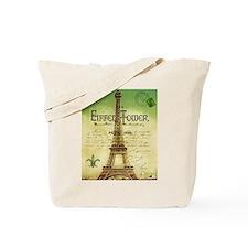 VINTAGE TRAVEL Eiffel Tower Tote Bag