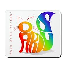 rainbow cat Mousepad
