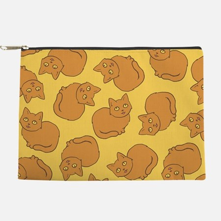 Cute Orange Cat Pattern Makeup Bag
