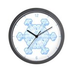 Flurry Snowflake XI Wall Clock