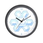 Flurry Snowflake XII Wall Clock