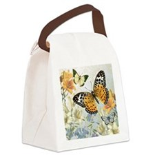 MODERN VINTAGE french butterfly Canvas Lunch Bag
